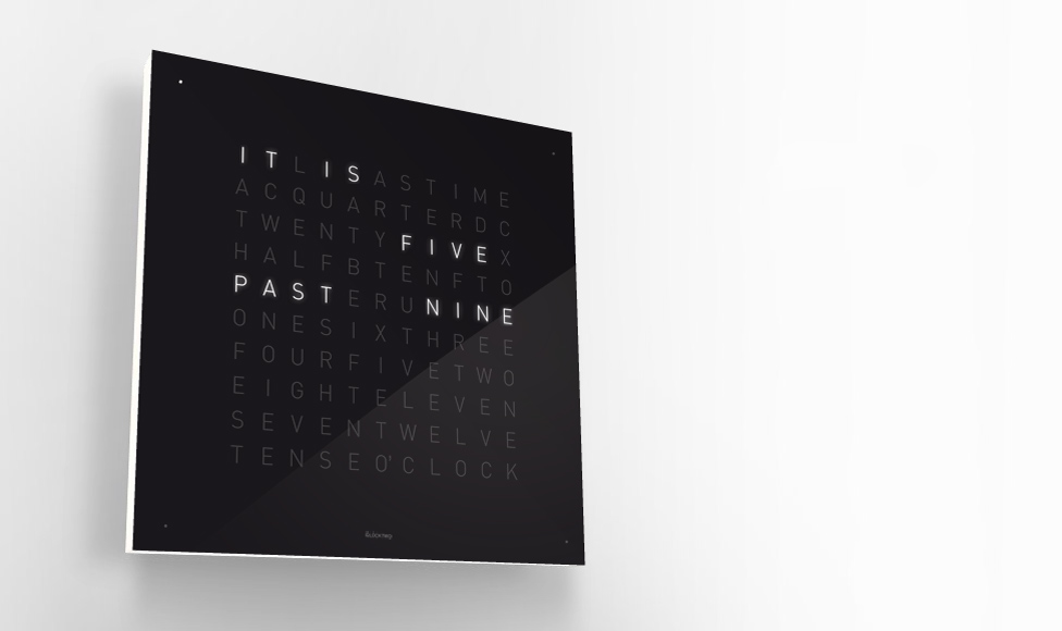 orologio qlocktwo di biegert funk interiorblackdesign